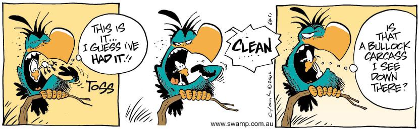 Swamp Cartoon - Say GoodbyeJune 1, 2002
