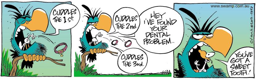 Swamp Cartoon - Bludgerigar Sweet Tooth ComicJune 4, 2002