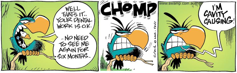 Swamp Cartoon - Dental WorkJune 6, 2002