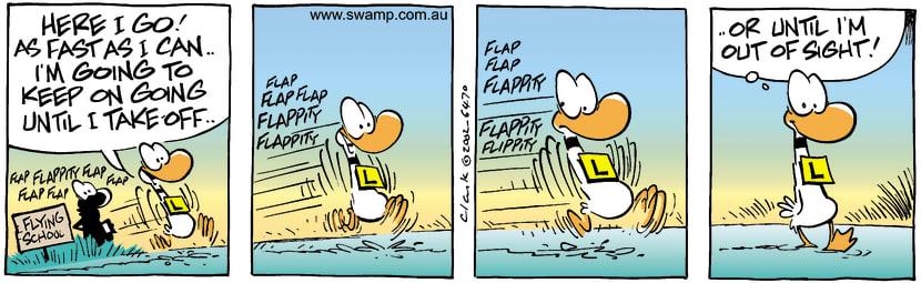 Swamp Cartoon - Taking OffJune 12, 2002