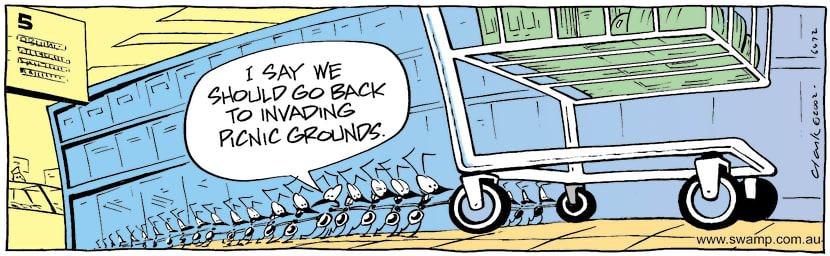 Swamp Cartoon - InvasionJune 14, 2002