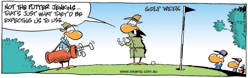 Swamp Cartoon - Golf Week 2June 24, 2002