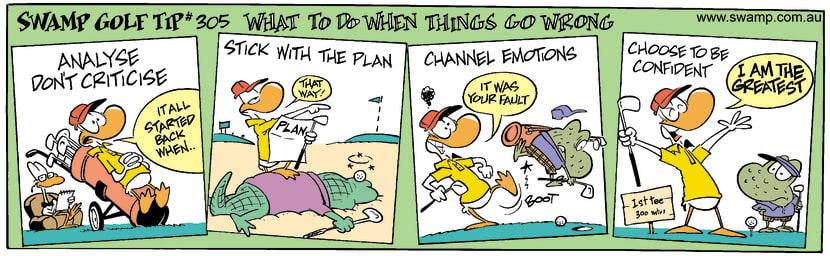 Swamp Cartoon - Golf Week 4June 26, 2002