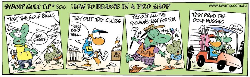 Swamp Cartoon - Golf Week 5June 27, 2002