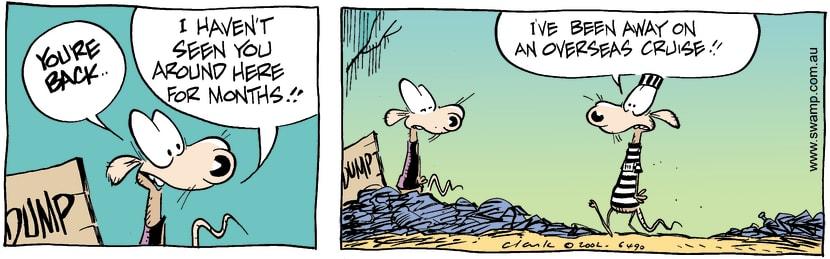 Swamp Cartoon - Youre BackJuly 5, 2002