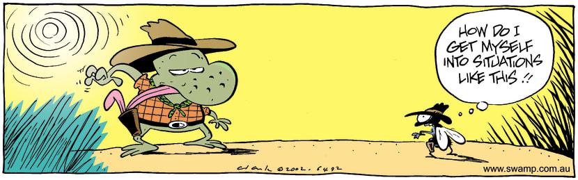 Swamp Cartoon - Draw PartnerJuly 8, 2002