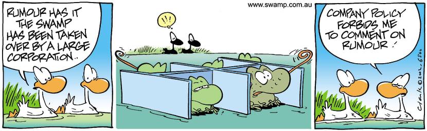 Swamp Cartoon - Swamp CorporationJuly 17, 2002