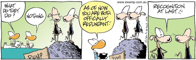 Swamp Cartoon - SlakersJuly 18, 2002