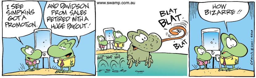 Swamp Cartoon - WorkingJuly 26, 2002