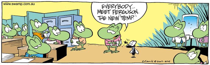 Swamp Cartoon - Co-WorkerJuly 27, 2002