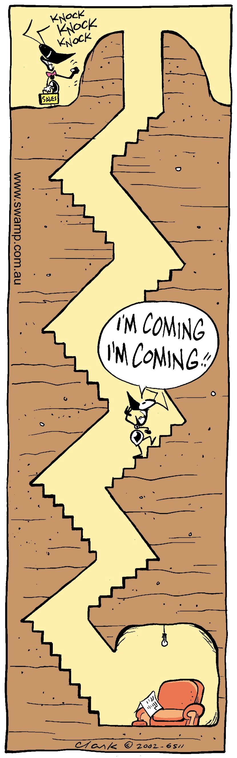 Swamp Cartoon - Knock KnockJuly 30, 2002