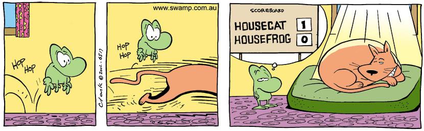 Swamp Cartoon - House Frog 4August 6, 2002