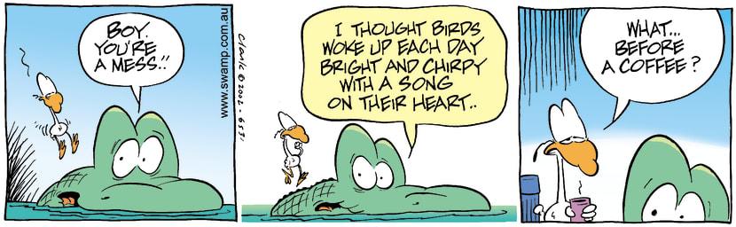 Swamp Cartoon - Early BirdAugust 22, 2002