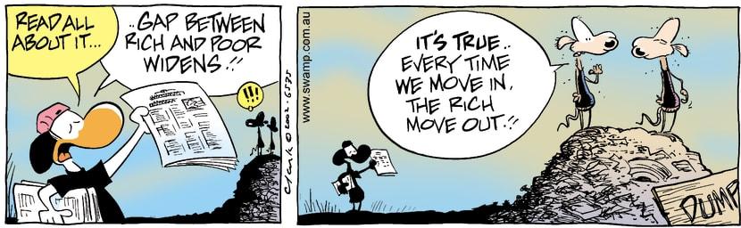 Swamp Cartoon - Rich & PoorAugust 27, 2002