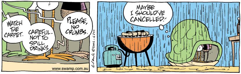 Swamp Cartoon - BBQAugust 29, 2002