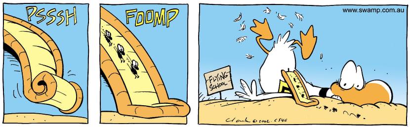 Swamp Cartoon - Air SlideSeptember 9, 2002