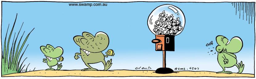 Swamp Cartoon - Flies Gum Ball MachineSeptember 10, 2002