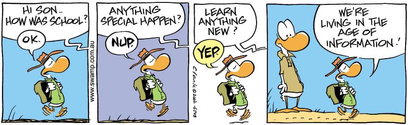 Swamp Cartoon - School DaySeptember 11, 2002