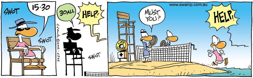 Swamp Cartoon - BeachSeptember 12, 2002