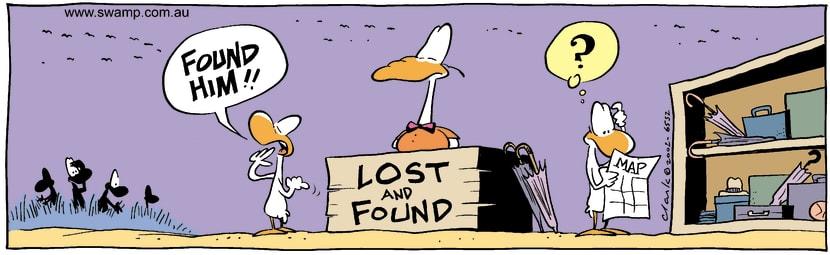Swamp Cartoon - LostSeptember 16, 2002