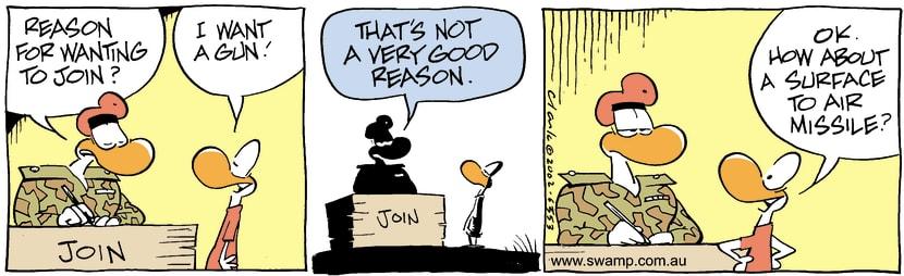 Swamp Cartoon - Army JoinSeptember 17, 2002