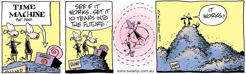Swamp Cartoon - Time Machine 1September 19, 2002
