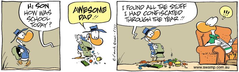 Swamp Cartoon - School DayOctober 3, 2002