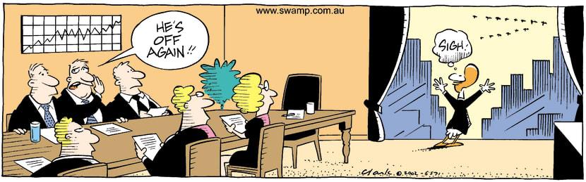 Swamp Cartoon - SighOctober 8, 2002