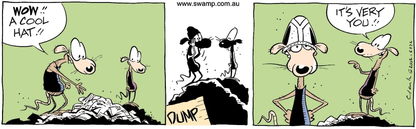 Swamp Cartoon - BeanieOctober 9, 2002