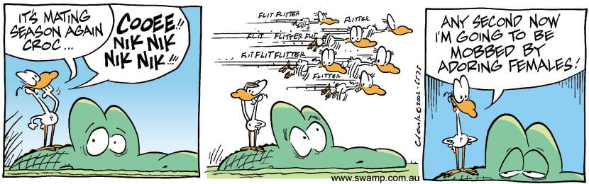 Swamp Cartoon - Mating Season 1October 12, 2002