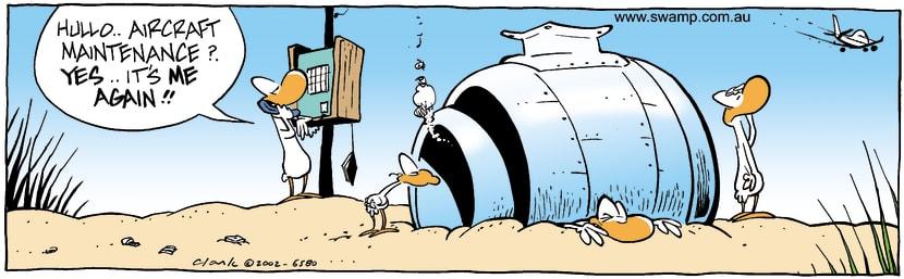 Swamp Cartoon - Aircraft 2October 18, 2002