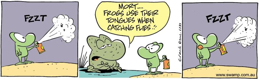 Swamp Cartoon - TongueOctober 29, 2002