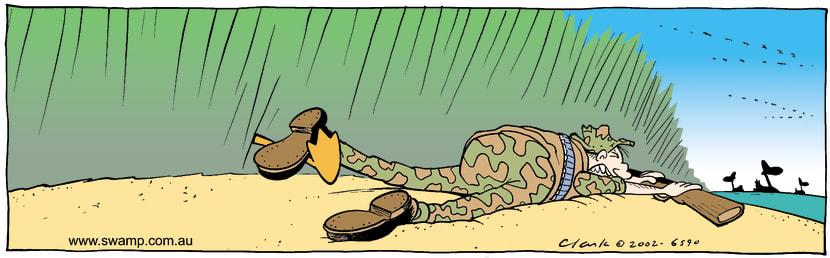 Swamp Cartoon - Duck Hunter Trip ComicOctober 30, 2002