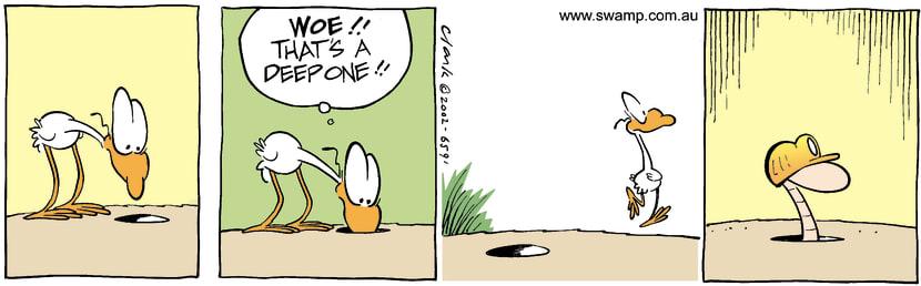 Swamp Cartoon - HoleOctober 31, 2002