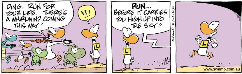 Swamp Cartoon - WhirlwindNovember 6, 2002