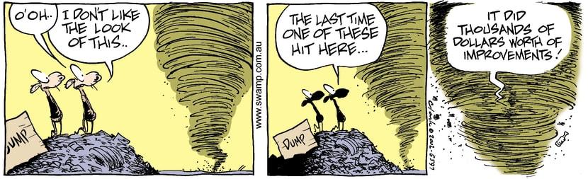 Swamp Cartoon - Whirlwind 2November 7, 2002
