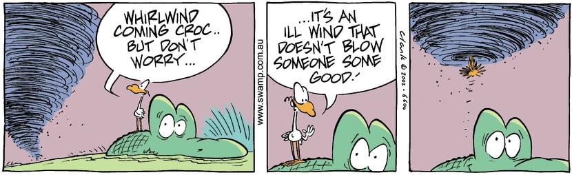 Swamp Cartoon - Whirlwind 6November 11, 2002