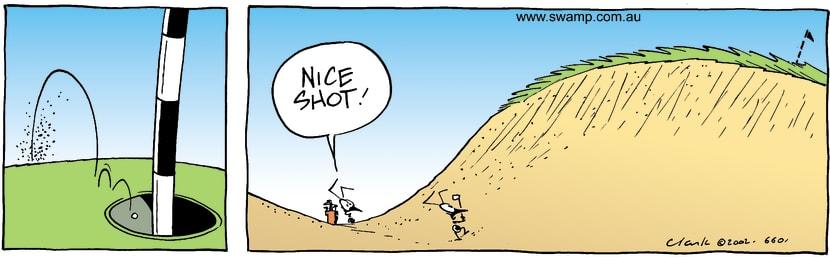 Swamp Cartoon - Golf ShotNovember 12, 2002