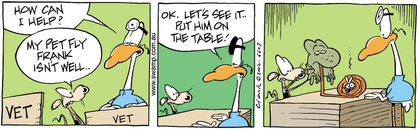 Swamp Cartoon - Pet FlyNovember 14, 2002