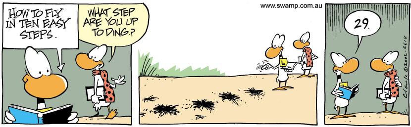 Swamp Cartoon - Flying StepsNovember 27, 2002