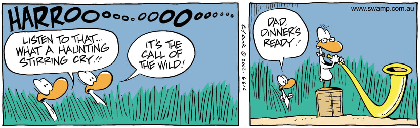 Swamp Cartoon - Call Of The WildNovember 29, 2002