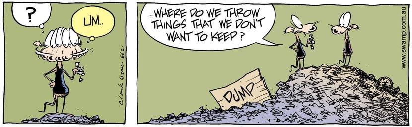Swamp Cartoon - RubbishDecember 5, 2002