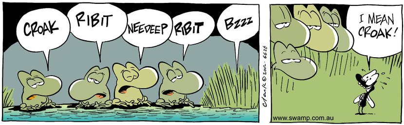 Swamp Cartoon - CroakDecember 11, 2002