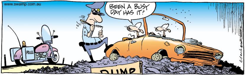 Swamp Cartoon - PoliceDecember 13, 2002