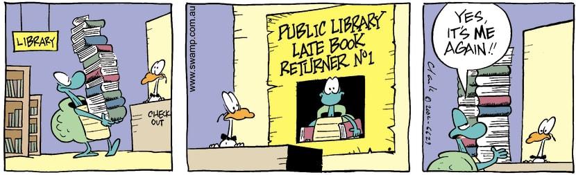 Swamp Cartoon - Library 1December 14, 2002