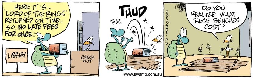 Swamp Cartoon - Library 2December 16, 2002