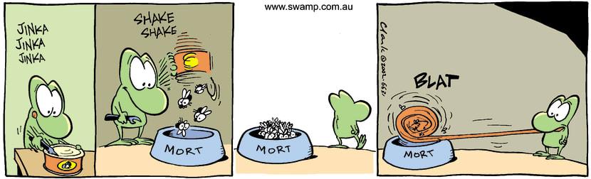 Swamp Cartoon - Can FoodDecember 17, 2002