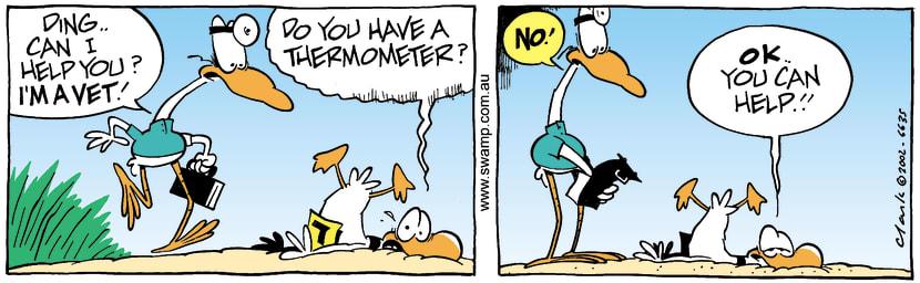Swamp Cartoon - Dings VetDecember 21, 2002