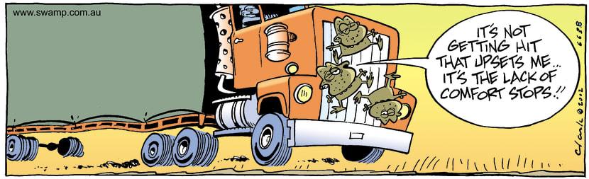 Swamp Cartoon - Truck StopDecember 25, 2002