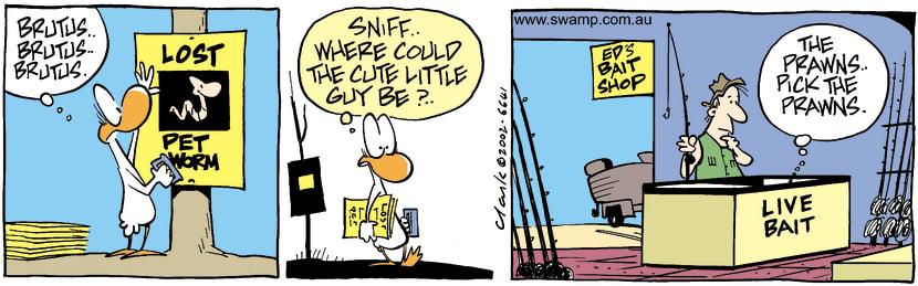 Swamp Cartoon - Lost  Worm 1December 28, 2002